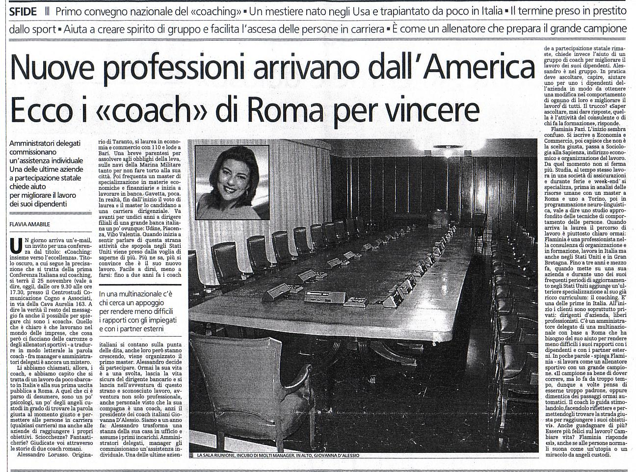 """Nuove professioni in arrivo dall'America. Ecco i """"coach"""" di Roma per vincere"""