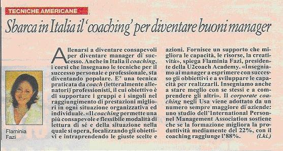 Sbarca in Italia il coaching per diventare buoni manager